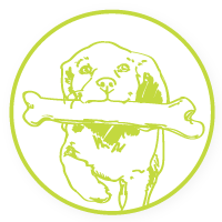 Wag N' Wash pet store franchise companion animals icon.