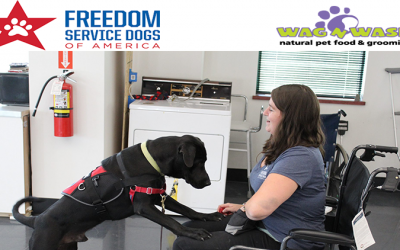 "Wag N' Wash Hosts 2nd Annual ""Round Up for Freedom Service Dogs"""